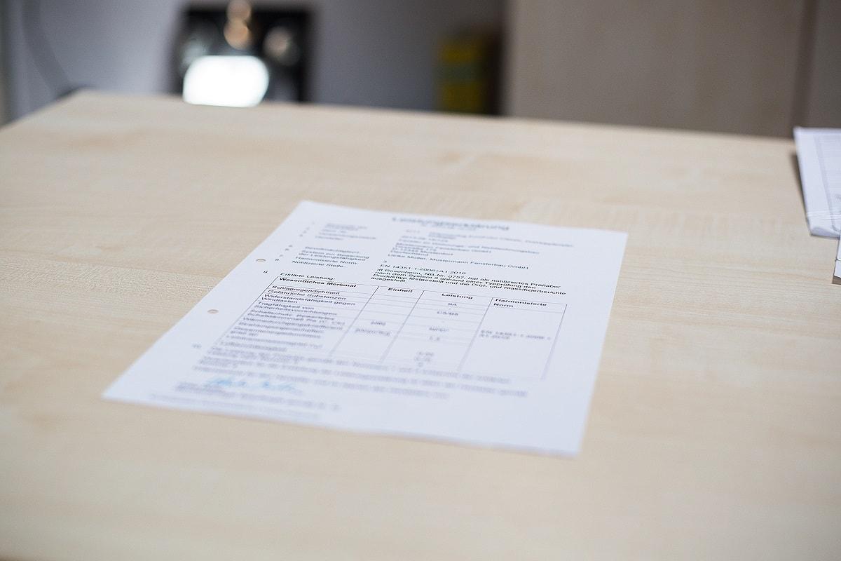 Nahaufnahme eines Dokumentes