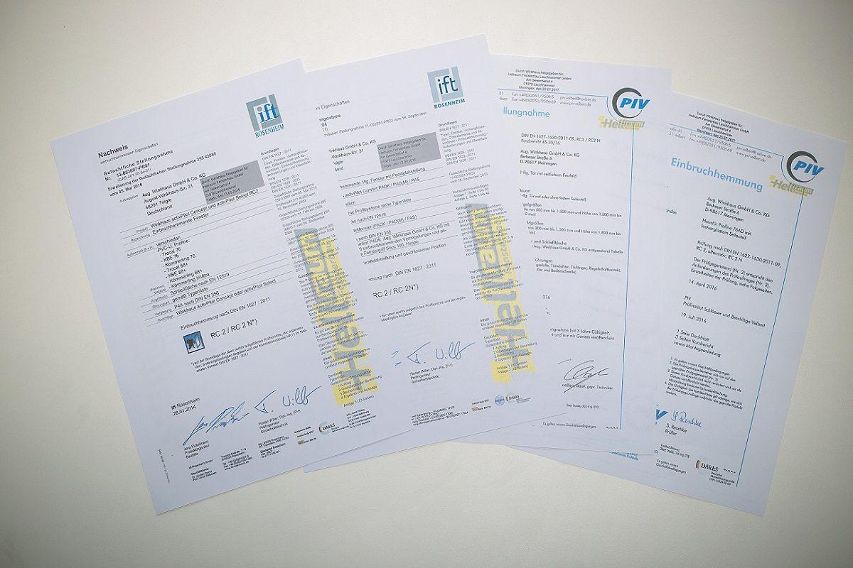 Nahaufnahme von Nachweis Dokumenten
