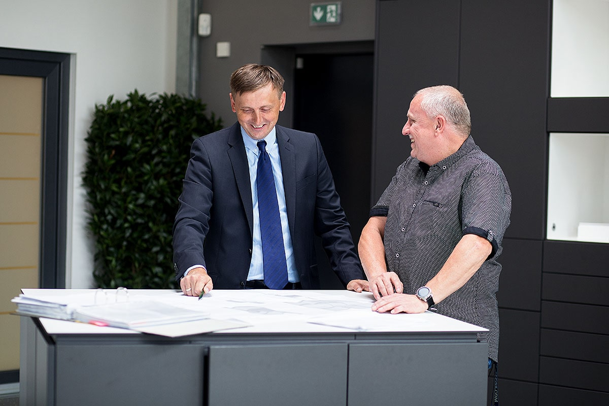 Meeting zwischen Herrn Jörke und Herrn Heppner